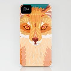 Red Fox iPhone 4 Case by Tia Eastwood