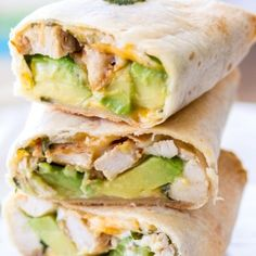 This is a sponsored post written by me on behalf of Mission®. These easy Baked Avocado Chicken Burritos are made with Mission Gluten Free Tortillas, chicken, avocados, cheese, sour Dinner Recipes Easy Quick, Quick Easy Meals, Yummy Recipes, Free Recipes, Baked Avocado, Avocado Recipes, Cilantro, Chicken Avocado Wrap, Burrito Wrap