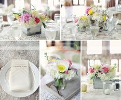 Colorful Vista West Ranch Wedding | Forever Photography Studio Petal Pushers lace tablecloth pink and yellow wedding flowers