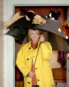 raining cats and dogs costume. Pretty cute last minute idea.