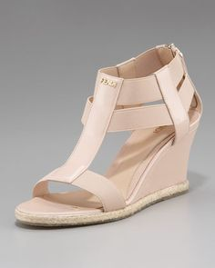 Carioca Banded-Strap Wedge by Fendi
