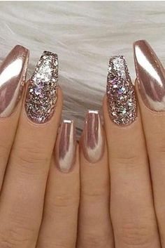 Edgy Nails Hi ladies here is a compilation of nail ideas we think might inspire you. we have carefully included ideas which we hope will appeal to you guys. including Matte and Acrylic ideas. Edgy Nails, New Year's Nails, Glam Nails, Stylish Nails, Fancy Nails, Bling Nails, Trendy Nails, Cute Nails, Glitter Nails
