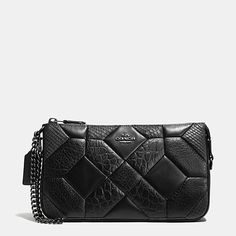 6368904378 Canyon quilt nolita wristlet 24 in exotic embossed leather