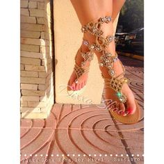 4fec50e2d48c0a Gladiator by Mystique · All White OutfitWhite OutfitsAll White PartyShoes  WorldGold SandalsEmbellished ...