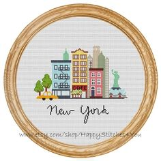 Cross Stitch Pattern PDF New York city DD0068 par HappyStitches4You