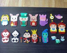 Alice in Wonderland hama beads by hae_urusai