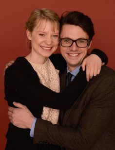 Matthew Goode and Mia Wasikowska at event of Stoker