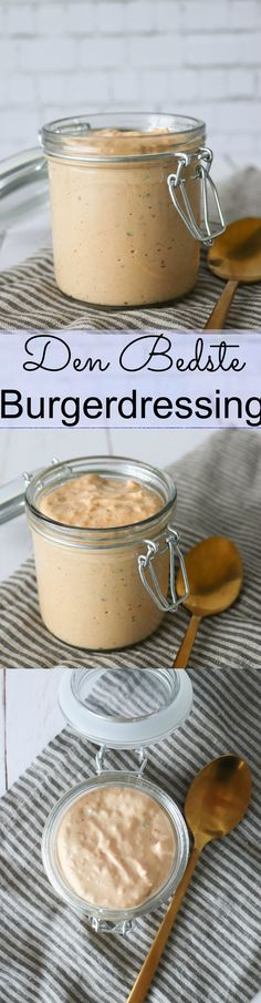 Homemade burger dressing takes 5 minutes to make and this is the very best recipe you can get for dressing for a burger! But this burger dressing is not only good for burgers! Chicken Burgers Healthy, Vegan Burgers, Burger Co, Good Burger, Burger Dressing, Hamburger Helper, Hamburgers, Beste Burger, Nacho Cheese Sauce