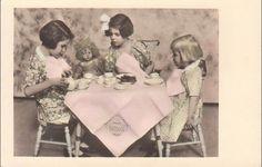 Girls with Lenci doll