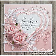 Handmade Wedding Card - WE012