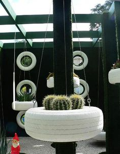 Hanging Tyre Pot Concept