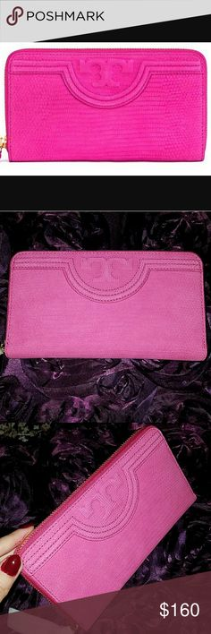 TORY BURCH Fleming Continental Wallet Brand new never used.  Color is hibiscus flower. Tory Burch Bags