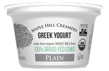 Maple Hill Creamery Plain Greek Yogurt (whole milk & yogurt cultures)