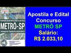 Apostila Concurso Público METRÔ SP 2016 Operador de Transporte Metroviár...