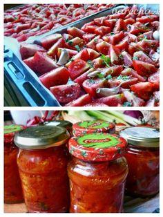 Pripečené paradajky sterilizované - Recept