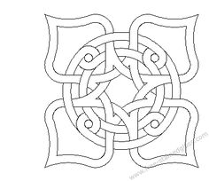 stained glass coloring pages | Celtic mosaic tiles