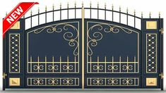 Discover recipes, home ideas, style inspiration and other ideas to try. Iron Main Gate Design, Home Gate Design, Grill Gate Design, House Main Gates Design, Fence Gate Design, Steel Gate Design, Front Gate Design, Window Grill Design, Main Door Design