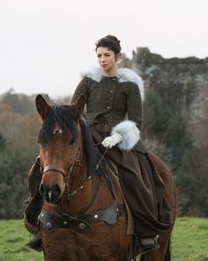 """Caitriona Balfe as Claire Randall in Outlander on Starz 