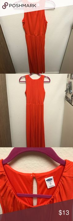 Old navy XS maxi dress Super soft Old Navy maxi dress in orange. Never worn. Old Navy Dresses Maxi