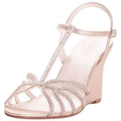 New David's Bridal Metallic Crystal T-Strap Wedges Style Nora online. Find the great Dolce Vita Sandals-shoes from top Shoes store. Wedding Flats, Bridal Heels, Davids Bridal, T Strap, Champagne, Wedges, Pumps, Metallic, Crystal