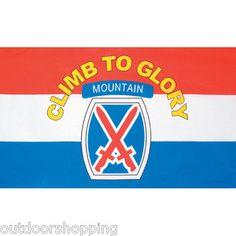 10TH MOUNTAIN DIVISION FLAG