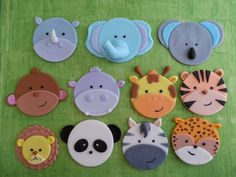 Jungle and Safari cupcake toppers. Zoo Baby by DsCustomToppers