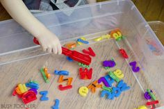 Check out this awesome activity and all the different ways to play with it. Magnetic alphabet fishing is so quick and easy, and perfect for toddlers!