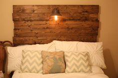 Southern DIY Therapy: Wood headboard... How to! Making one for my guest room this weekend? Good possibility