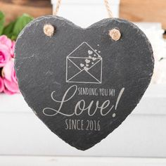 Personalised Heart-Shaped Hanging Slate Keepsake Key Features:Complete with a rustic hanging ropeA token of your love!Add a luxury gift boxOur Personalised Heart-Shaped Slate Keepsake is a lovely anniversary or Valentines Day gift for your other hal http://www.MightGet.com/january-2017-11/personalised-heart-shaped-hanging-slate-keepsake.asp