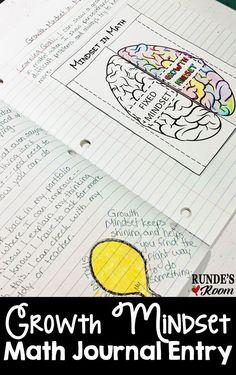 Runde's Room: Math Journal Sundays - Growth Mindset in Math Growth Mindset Classroom, Growth Mindset Activities, Interactive Math Journals, Math Notebooks, Mathematical Mindset, Math Classroom, Math Math, Math Teacher, Math Fractions