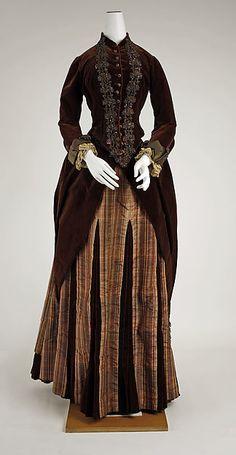 Dress Date: 1881–83 Culture: French Medium: silk Dimensions: Length at CF (a): 18 x 45 1/4 in. (45.7 x 114.9 cm) Length at CF (b): 42 x 45 in. (106.7 x 114.3 cm) Width at Bottom: 84 in. (213.4 cm)