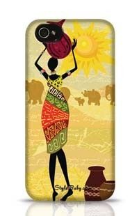 Tribal Lady Apple iPhone 4S Phone Case