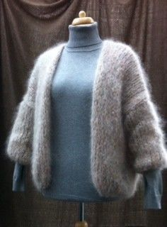 Vest: Net als Bernadet Thick Sweaters, Wool Sweaters, Make Your Own Clothes, Crochet Shawls And Wraps, Mohair Sweater, Cardigan Pattern, Knit Fashion, Diy Crochet, Lana