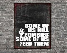 (via Halloween Zombie Typographic Poster Decor by hairbrainedschemes)