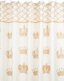 Crown Print Shower Curtain