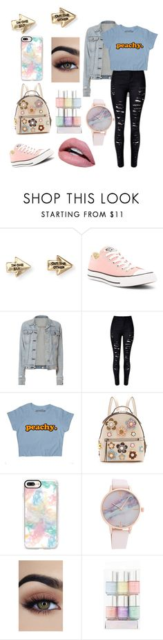 """""""Peachy"""" by shanoonflower ❤ liked on Polyvore featuring interior, interiors, interior design, home, home decor, interior decorating, Aéropostale, Converse, rag & bone and Fendi"""