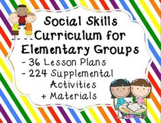 Social Skills Group Curriculum - 36 Lessons, 224 Activitie Social Skills Autism, Social Skills Lessons, Social Skills For Kids, Social Skills Activities, Teaching Social Skills, Counseling Activities, Social Emotional Learning, Group Counseling, Speech Activities