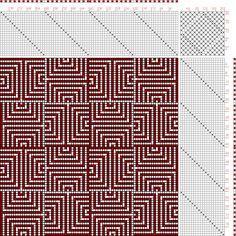 Figure 1844, A Handbook of Weaves by G. H. Oelsner, 20S, 20T - Handweaving.net Hand Weaving and Draft Archive
