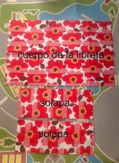 PANDIELLEANDO: Tutorial: Funda de tela para libreta Quilts, Albums, Bags, Craft Tutorials, Envelopes, Fabric Book Covers, Quilting Patterns, Bookmarks, Quilt Block Patterns
