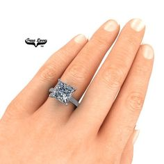 Your place to buy and sell all things handmade Princess Cut Engagement Rings, Platinum Engagement Rings, 3 Carat, Wedding Matches, Moissanite, True Love, Unique Gifts, Dream Wedding