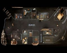 The film Dogville directed by Lars Von Trier (2003) takes literally place on a map. The action unfolds in a small town in the U.S. The houses are drawn on the ground, some elements are represented …