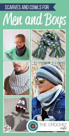Scarves and Cowls for Guys! There are some for men and some cute one for little boys