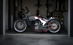 Custom Built Cafer Racer Style Motorcycle Built on all steel frame with Honda Front End: Custom girder front w/ dual Rock Shox air springs Cafe Racer For Sale, Cafe Racer Bikes, Cafe Racers, Bikes For Sale, Motorcycles For Sale, Motorcycle Art, Denver Colorado, Steel Frame, Cool Cars