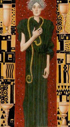 Four of Cups The Golden Tarot of Klimt by Atanas Alexander Atanssov