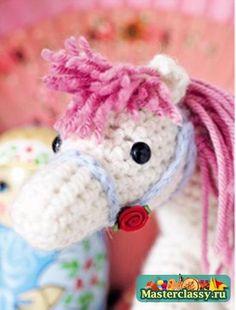 Вязание игрушек Лошадка амигуруми