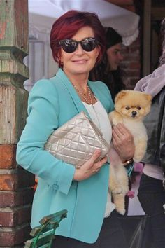 Sharon Osbourne, met her rescue Pomeranian pup Charlie, at a charity auction to benefit Holly's HollyRod Foundation.
