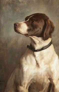 New York Dog Art Auction English Pointer by George Percy R. Jacomb-Hood, Pointer by George Percy R. Art And Illustration, York Dog, Vintage Dog, Boy Art, Wildlife Art, Dog Portraits, Art Auction, Animal Paintings, Painting Inspiration