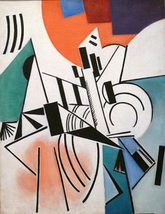 Suprematism, Olga Rozanova, Interesting usage of round/curved elements connecting to straight lines: I also make use of similar pictorial elements in my paintings. Harlem Renaissance, Avant Garde Artists, Art Base, Art Archive, Art Moderne, Art Abstrait, Russian Art, New Wave, Oeuvre D'art