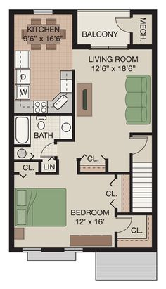 22 x 22 apartment floor plans - Google Search | clubhouse ...