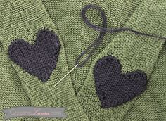 Heart elbow patch pattern